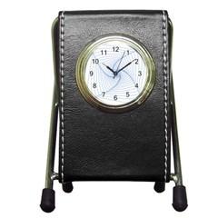 Spirograph Pattern Drawing Design Pen Holder Desk Clocks