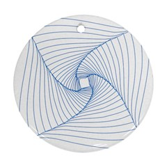 Spirograph Pattern Drawing Design Round Ornament (two Sides) by Nexatart