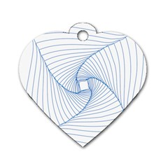 Spirograph Pattern Drawing Design Dog Tag Heart (two Sides) by Nexatart