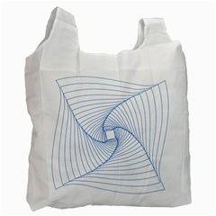 Spirograph Pattern Drawing Design Recycle Bag (one Side)