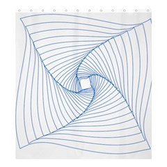 Spirograph Pattern Drawing Design Shower Curtain 66  X 72  (large)  by Nexatart
