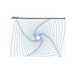 Spirograph Pattern Drawing Design Cosmetic Bag (large)  by Nexatart