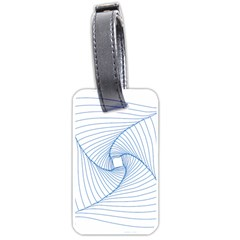Spirograph Pattern Drawing Design Luggage Tags (one Side)  by Nexatart