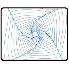 Spirograph Pattern Drawing Design Double Sided Fleece Blanket (medium)