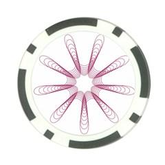 Spirograph Pattern Circle Design Poker Chip Card Guard (10 Pack) by Nexatart