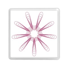 Spirograph Pattern Circle Design Memory Card Reader (square)