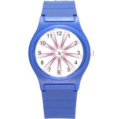 Spirograph Pattern Circle Design Round Plastic Sport Watch (s) by Nexatart