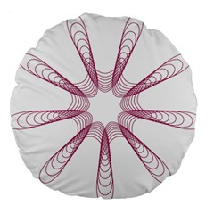 Spirograph Pattern Circle Design Large 18  Premium Round Cushions by Nexatart
