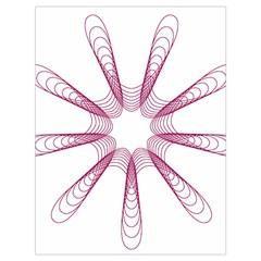 Spirograph Pattern Circle Design Drawstring Bag (large)