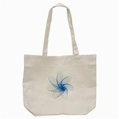 Spirograph Pattern Drawing Design Blue Tote Bag (cream) by Nexatart