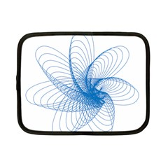 Spirograph Pattern Drawing Design Blue Netbook Case (small)  by Nexatart