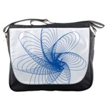 Spirograph Pattern Drawing Design Blue Messenger Bags Front
