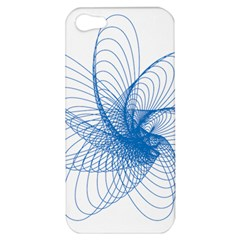 Spirograph Pattern Drawing Design Blue Apple Iphone 5 Hardshell Case by Nexatart