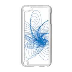 Spirograph Pattern Drawing Design Blue Apple Ipod Touch 5 Case (white) by Nexatart
