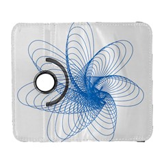 Spirograph Pattern Drawing Design Blue Galaxy S3 (flip/folio)