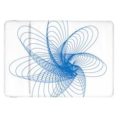 Spirograph Pattern Drawing Design Blue Samsung Galaxy Tab 8 9  P7300 Flip Case