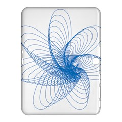 Spirograph Pattern Drawing Design Blue Samsung Galaxy Tab 4 (10 1 ) Hardshell Case