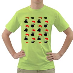 Pattern Sheep Parachute Children Green T Shirt