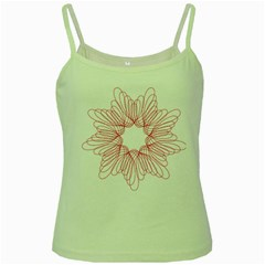 Spirograph Pattern Drawing Design Green Spaghetti Tank by Nexatart