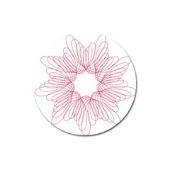 Spirograph Pattern Drawing Design Magnet 3  (round)