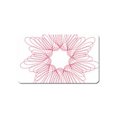 Spirograph Pattern Drawing Design Magnet (name Card) by Nexatart