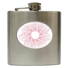 Spirograph Pattern Drawing Design Hip Flask (6 Oz)