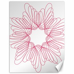 Spirograph Pattern Drawing Design Canvas 12  X 16   by Nexatart