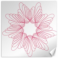 Spirograph Pattern Drawing Design Canvas 16  X 16   by Nexatart