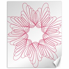 Spirograph Pattern Drawing Design Canvas 16  X 20   by Nexatart