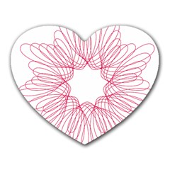 Spirograph Pattern Drawing Design Heart Mousepads by Nexatart