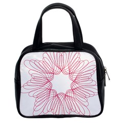 Spirograph Pattern Drawing Design Classic Handbags (2 Sides)