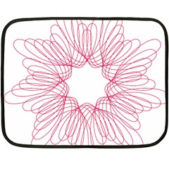 Spirograph Pattern Drawing Design Fleece Blanket (mini) by Nexatart