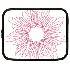 Spirograph Pattern Drawing Design Netbook Case (xxl)  by Nexatart