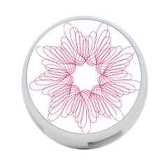 Spirograph Pattern Drawing Design 4 Port Usb Hub (one Side)