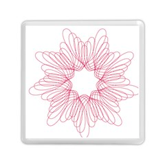 Spirograph Pattern Drawing Design Memory Card Reader (square)
