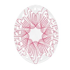 Spirograph Pattern Drawing Design Oval Filigree Ornament (two Sides) by Nexatart