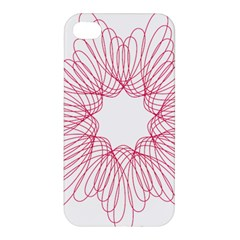 Spirograph Pattern Drawing Design Apple Iphone 4/4s Hardshell Case by Nexatart
