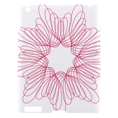 Spirograph Pattern Drawing Design Apple Ipad 3/4 Hardshell Case by Nexatart