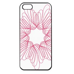 Spirograph Pattern Drawing Design Apple Iphone 5 Seamless Case (black)
