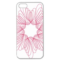 Spirograph Pattern Drawing Design Apple Seamless Iphone 5 Case (clear) by Nexatart