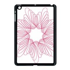 Spirograph Pattern Drawing Design Apple Ipad Mini Case (black) by Nexatart
