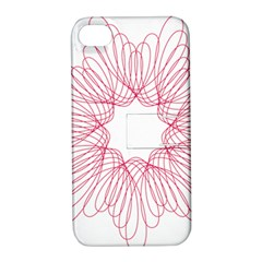 Spirograph Pattern Drawing Design Apple Iphone 4/4s Hardshell Case With Stand by Nexatart