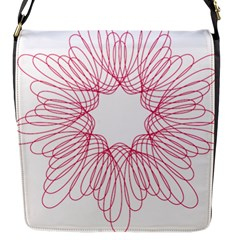 Spirograph Pattern Drawing Design Flap Messenger Bag (s)