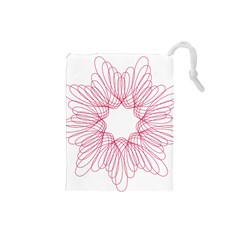 Spirograph Pattern Drawing Design Drawstring Pouches (small)  by Nexatart