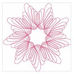Spirograph Pattern Drawing Design Large Satin Scarf (square) by Nexatart