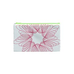 Spirograph Pattern Drawing Design Cosmetic Bag (xs) by Nexatart