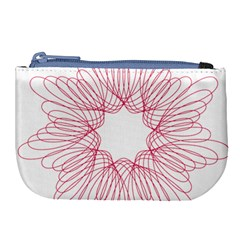 Spirograph Pattern Drawing Design Large Coin Purse