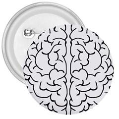 Brain Mind Gray Matter Thought 3  Buttons by Nexatart