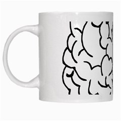 Brain Mind Gray Matter Thought White Mugs by Nexatart
