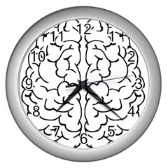 Brain Mind Gray Matter Thought Wall Clocks (silver)